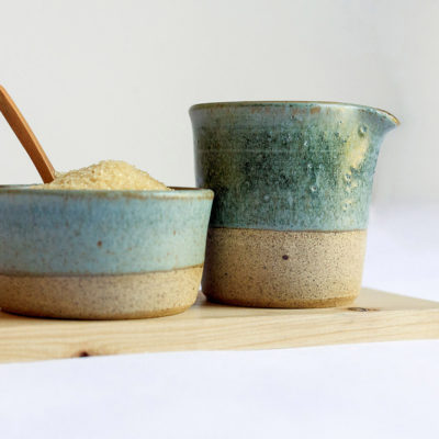 Turquoise Milk & Sugar Set 250ml