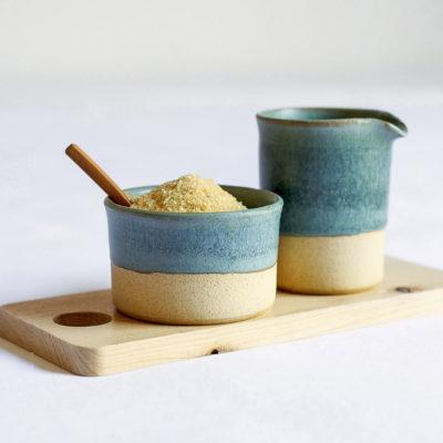 Turquoise Milk & Sugar Set 150ml